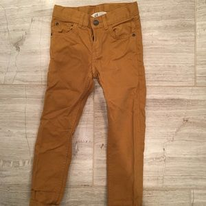 H&M Straight Leg Twill Pants in Ochre 3T